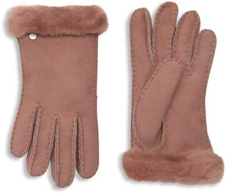 UGG Leather Shearling Gloves