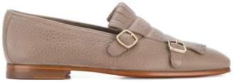 Santoni double-buckle loafers