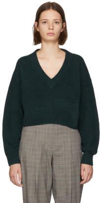 3.1 Phillip Lim Green Lofty V-Neck Sweater