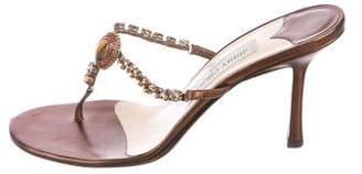 Jimmy Choo Embellished Slide Sandals