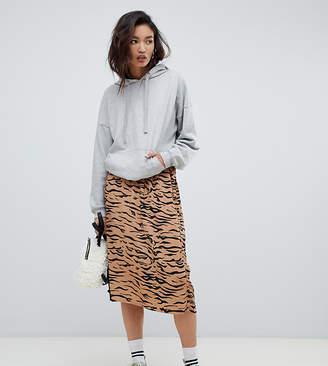 d6894558e NA-KD Na Kd tiger print midi skirt