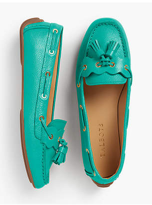 Talbots Everson Driving Moccasins - Pebble Leather