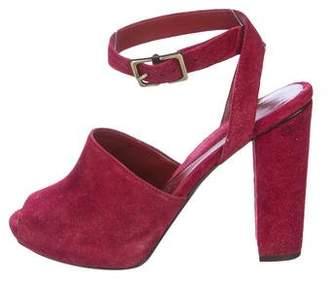 Diane von Furstenberg Suede Wrap Sandals