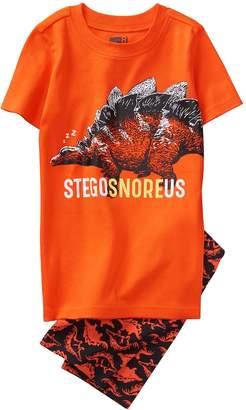 Crazy 8 Crazy8 Stegosnoreus Shortie 2-Piece Pajama Set