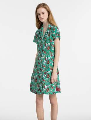Calvin Klein floral short sleeve dress