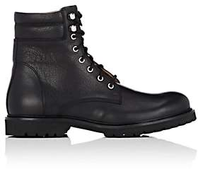 Barneys New York Men's Lug-Sole Leather Boots-Black