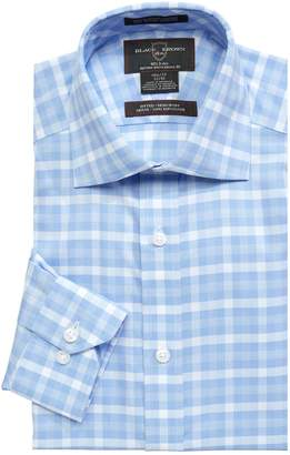 Black Brown 1826 Fitted Plaid Dress Shirt