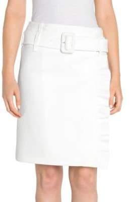 Prada Techno Jersey Belted Ruffle Wrap Skirt