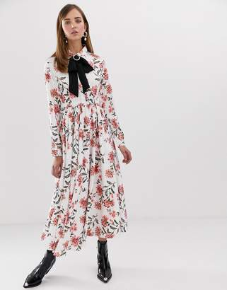 Sister Jane maxi button front dress with diamante buckle in romantic floral