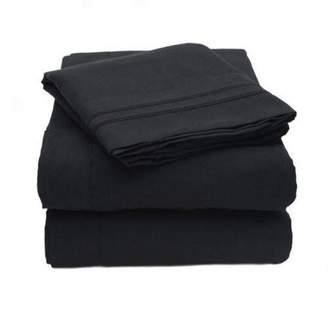 Olivia Branch 1800 Thread Count Microfiber Bed Sheet Set