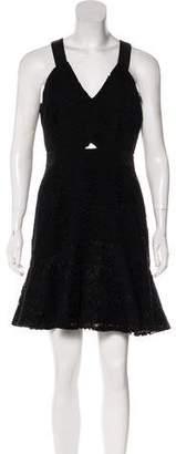 Rebecca Taylor Sleeveless Lace Mini Dress