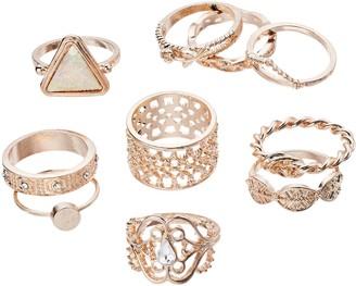 Mudd Textured Ring Set