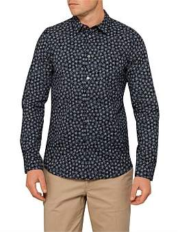 Paul Smith Slim Fit Alpine Star Floral Print L/S Casual Shirt