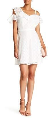 GUESS Cold Shoulder Lace Dress