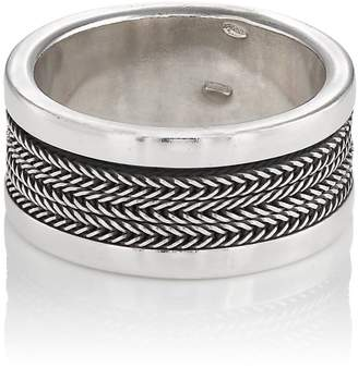 Emanuele Bicocchi MEN'S STERLING SILVER LAYERED BAND