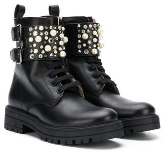 Florens embellished ankle strap boots