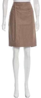 Brunello Cucinelli Woven Knee-Length Skirt