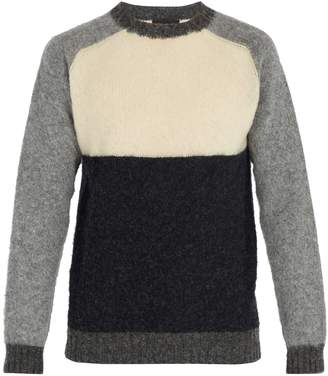 HOWLIN' Colour-blocked wool sweater