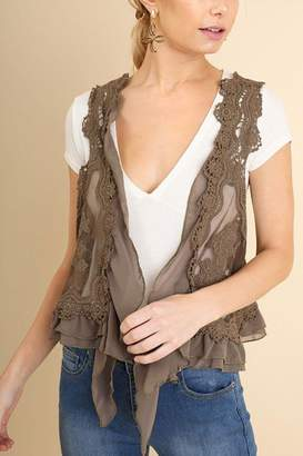Umgee USA Fashion Crochet Vest