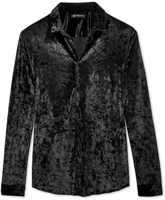 INC International Concepts I.n.c. Men's Crushed Velvet Shirt