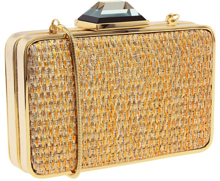 Franchi Handbags - Camille Clutch (Gold) - Bags and Luggage