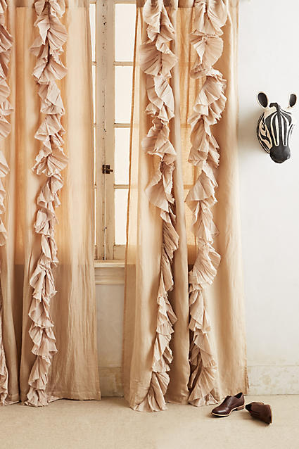 Anthropologie Anthropologie Wandering Pleats Curtain