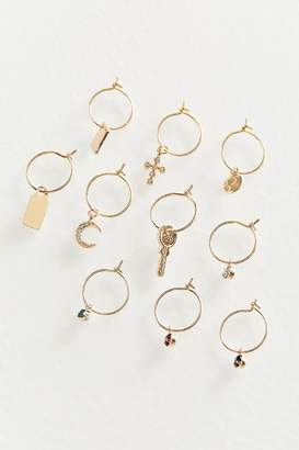 Urban Outfitters Delicate Charm Hoop Earring