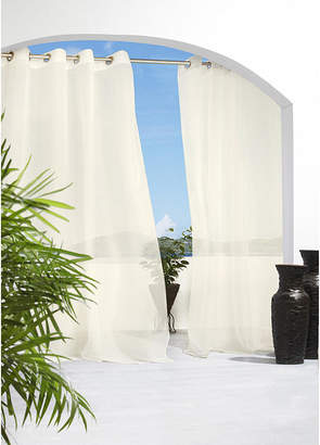 Asstd National Brand Cote DAzure Grommet-Top Outdoor Curtain Panel