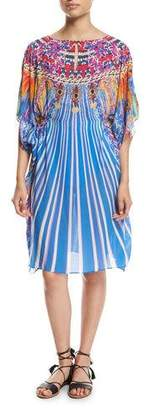 Gottex Sarsana Beach Dress Coverup, Blue Multi $228 thestylecure.com