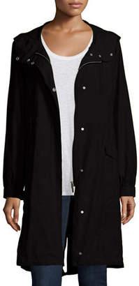 Eileen Fisher Hooded Long Anorak Jacket, Plus Size