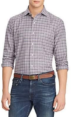 d19b14fbd438 Polo Ralph Lauren Men s Check Cotton Twill Long Sleeve Shirt