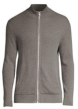 Theory Men's Waffle Knit Zip-Up Cardigan