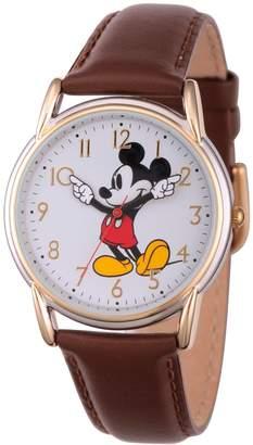 Disney Mickey Mouse Women's Two-Tone Brown Watch