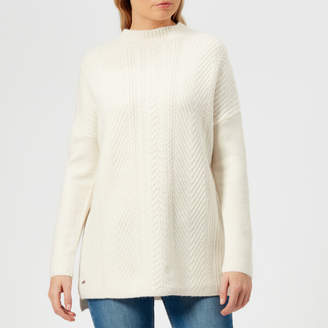 Joules Women's Fallon Funnel Cable Knitted Jumper