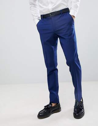 Esprit Slim Fit Suit Trouser In Royal Blue