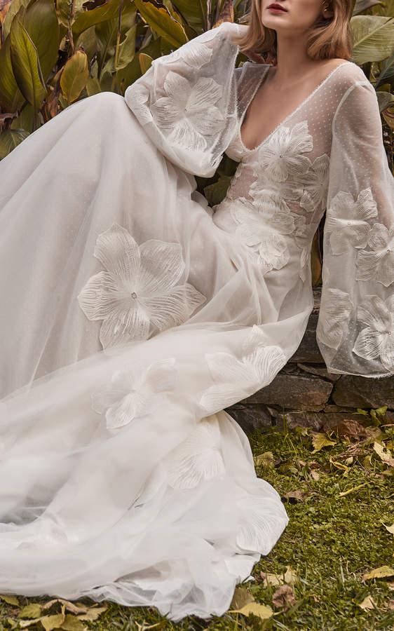 Costarellos Bridal V-Neck Ball Gown