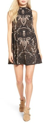 Women's Angie Mock Neck Swing Dress $39 thestylecure.com