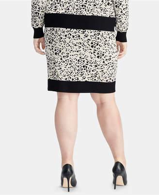 Rachel Roy Trendy Plus Size Printed Sweater Skirt