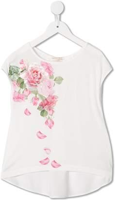 MonnaLisa rose print high low top