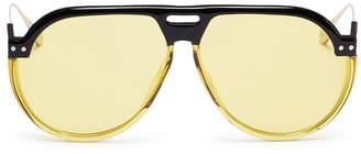 Christian Dior 'Dior Club 3' optyl brow bar spoiler aviator sunglasses