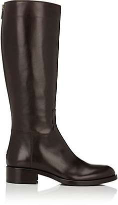 Barneys New York Women's Back-Zip Riding Boots-DARK BROWN $525 thestylecure.com