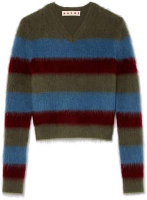 Marni V-Neck Mohair Sweater