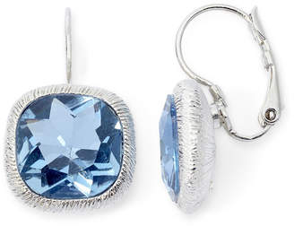 JCPenney MONET JEWELRY Monet Silver-Tone Blue Leverback Earrings