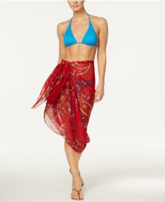INC International Concepts Paisley Wrap & Scarf & Cover-Up in One, Created for Macy's