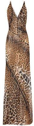Saint Laurent Leopard-print silk dress