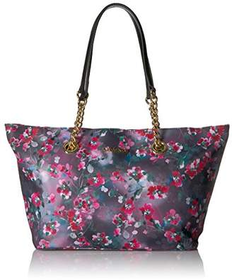 Calvin Klein Key Item Nylon Floral Print Chain Tote Tote Bag