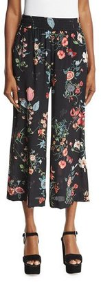 Rebecca Taylor Meadow Floral Silk Pants, Black/Multicolor $295 thestylecure.com