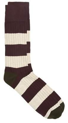 Corgi Men's Rugby Stripe Cotton Blend Socks