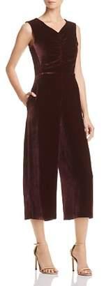 Rebecca Taylor Cropped Velvet Jumpsuit - 100% Exclusive