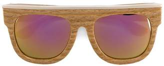 Dax Gabler 'N°02' wood-effect sunglasses
